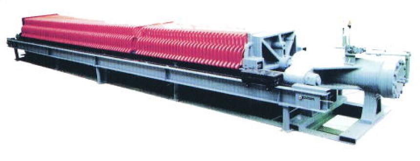 フィルタープレス油圧式