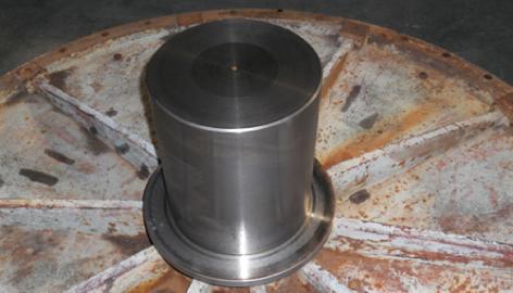 ボールミル主軸の改良(メタルの研磨及びベアリングへの改良。)
